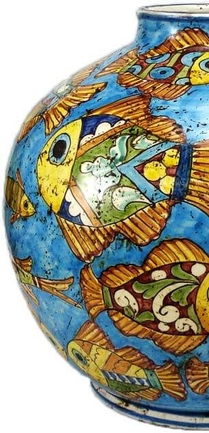 Brocca di ceramica del Ristorante di pesce Le brocchette a Roma Fiumicino