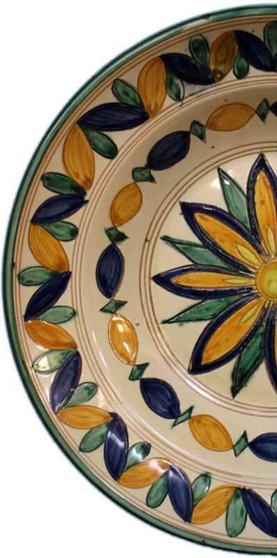 Piatto di ceramica del Ristorante di pesce Le brocchette a Roma Fiumicino