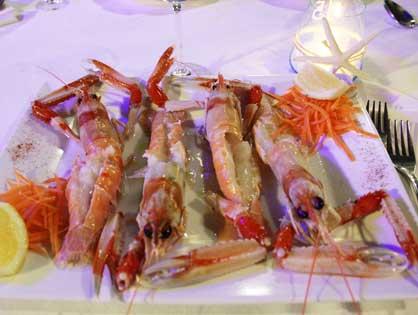 Il pesce crudo del ristorante di pesce Le Brocchette a Roma Fiumicino