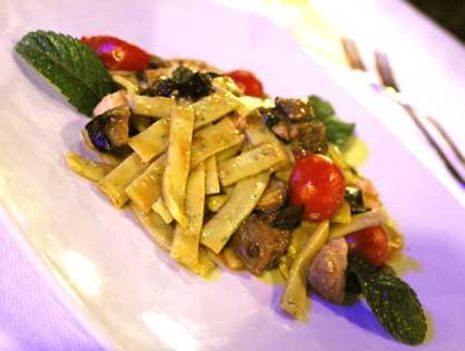 Gli scialatielli di mare del ristorante di pesce Le Brocchette a Roma Fiumicino